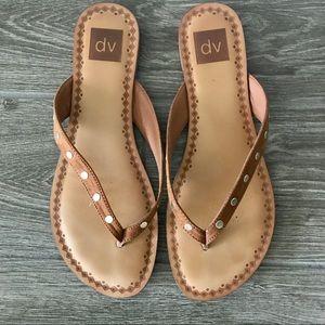 Dolce Vita Leather Studded Flip Flop